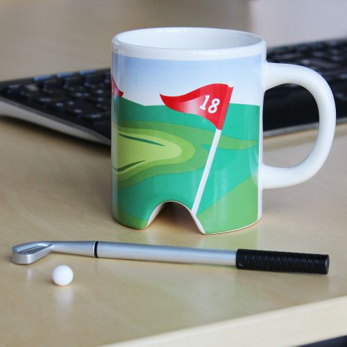 Golf Becher mit Putter