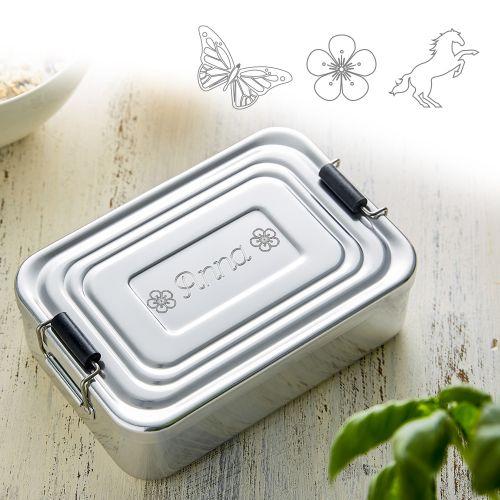 - Gravierte Lunchbox für Mädchen quadratisch - Onlineshop Monsterzeug