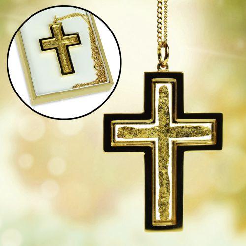 Collier croix avec or de 23 carats