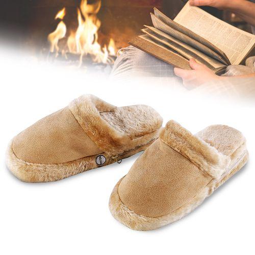 Pantoufles chauffe-pieds – avec piles