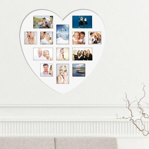 herz bilderrahmen collage wei er holz bilderrahmen in. Black Bedroom Furniture Sets. Home Design Ideas