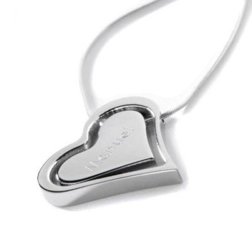 Collier cœur avec gravure