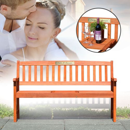 hochzeitsbank personalisiert romantisches geschenk f r. Black Bedroom Furniture Sets. Home Design Ideas