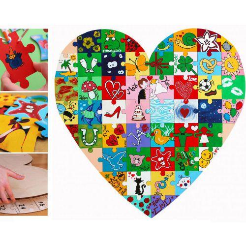 Holz Puzzle Herz zum Bemalen