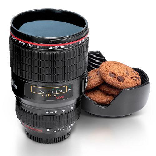 Kaffeebecher Kamera Objektiv