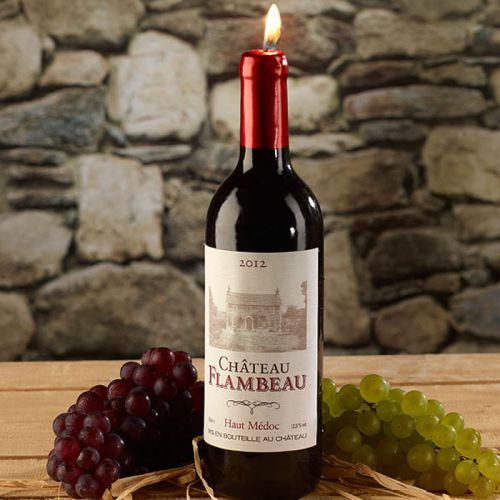 Kerze in Weinflaschenform