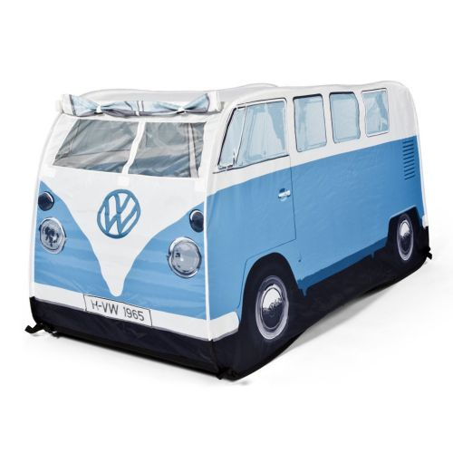 kinderzelt vw campervan hellblau spielspa f r drinnen. Black Bedroom Furniture Sets. Home Design Ideas