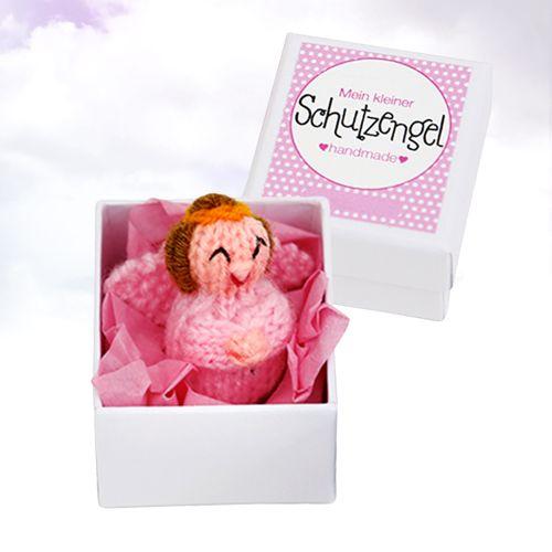 Kleiner Schutzengel handgefertigter Talisman rosa