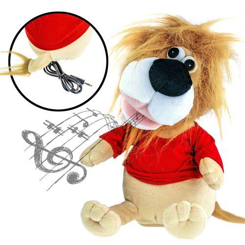 Kuscheltier Löwe animiert mit Lautsprecher