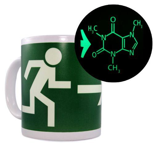 Leucht-Tasse Coffein