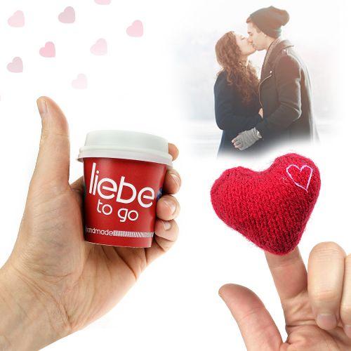 Liebe to go - mit handgefertigtem Herz
