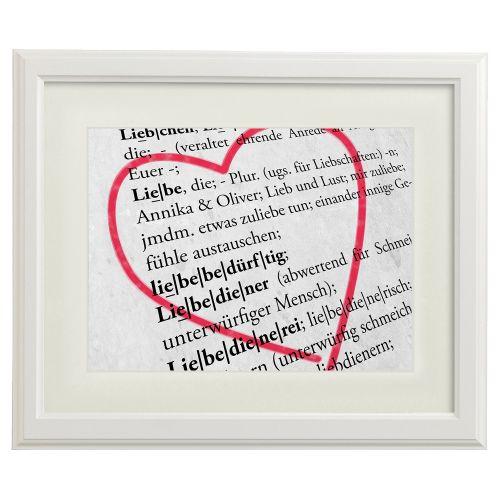 Liebesdefinition personalisiertes Bild Weiß