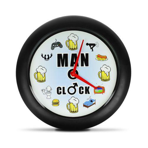 Männer Uhr - Wanduhr mit Sound