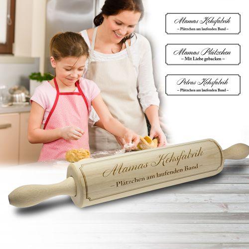 Mamas Nudelholz mit Gravur