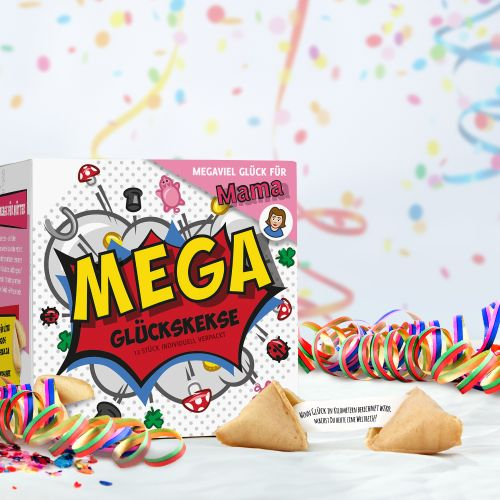 MEGA Glückskekse Geschenkbox für Mama