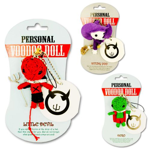 Mini Voodoo Dolls - Anh�nger in 15 Varianten
