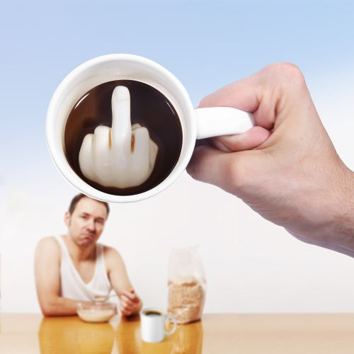 Mittelfinger Tasse