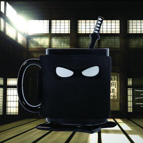 Ninja Tasse mit Löffel und Untersetzer