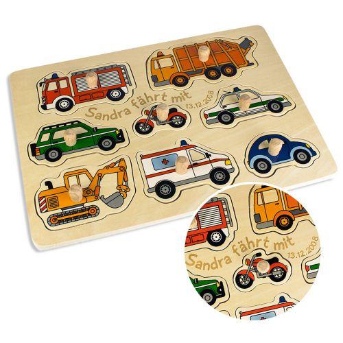 Personalisierbares Puzzle zum Stecken Autos