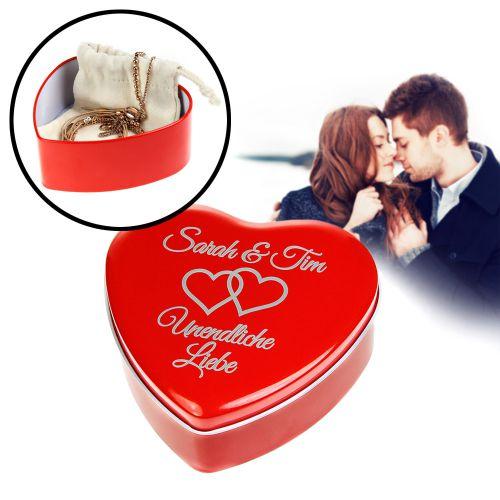 Personalisierte Geschenkbox Rotes Herz