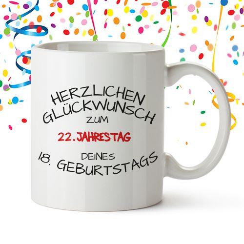 Personalisierte Tasse - Geburtstagsjahrestag