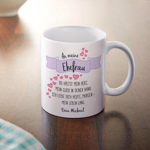 Personalisierte tasse liebesgedicht ehefrau mit widmung for Weihnachtsgeschenke ehefrau
