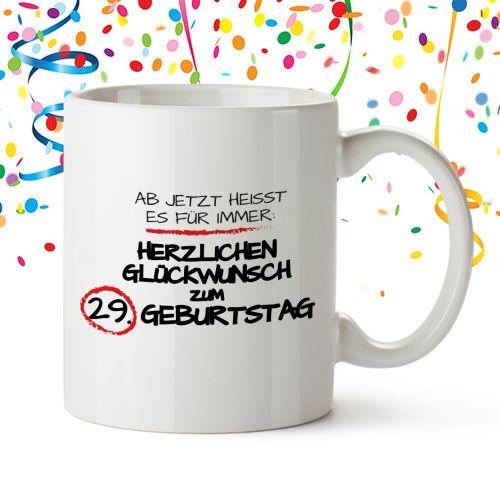 Personalisierte Tasse zum Geburtstag - Für immer