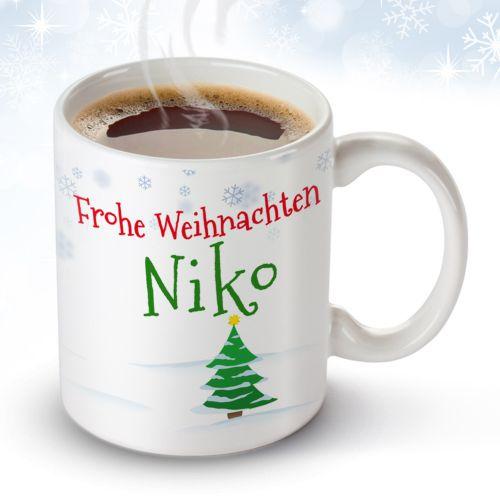Personalisierte Weihnachtstasse