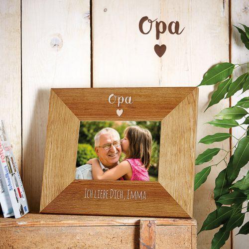 Personalisierter Bilderrahmen - Opa mit Herz