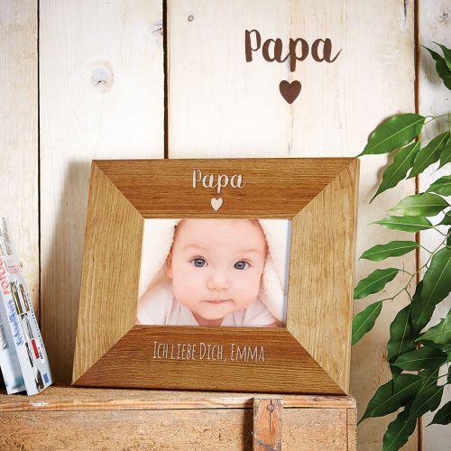 Personalisierter Bilderrahmen - Papa mit Herz