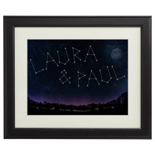 Personalisiertes Bild Sternenhimmel