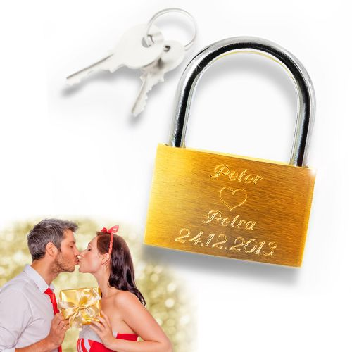 Individuellbesonders - Personalisiertes Liebesschloss Trust - Onlineshop Monsterzeug