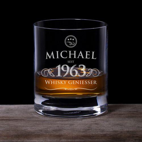 Personalisiertes Whiskyglas - Elegant