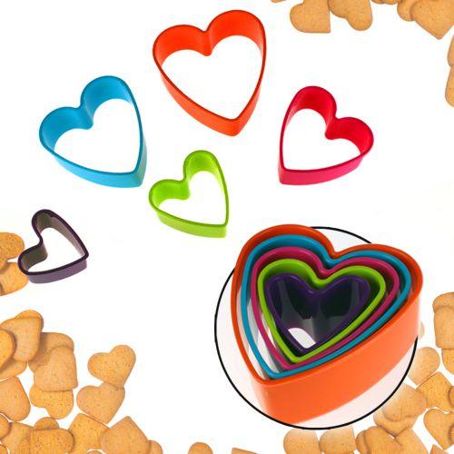 Set de 5 emporte-pièces cœurs