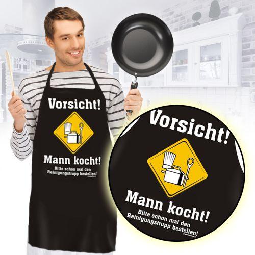 Schürze - Mann kocht