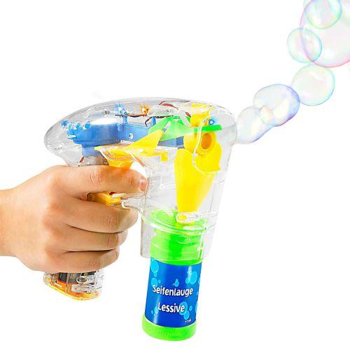 Pistolet à bulles de savon avec lumières LED