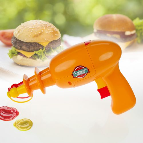 Contenant à sauce ketchup et moutarde – Pistolet