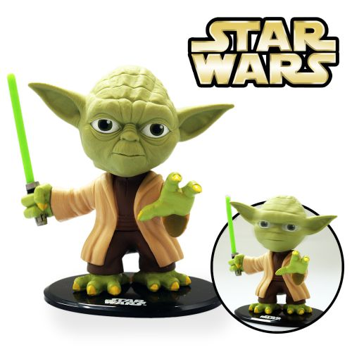 Star wars wackelkopffigur yoda coole deko f r echte fans for Star wars deko