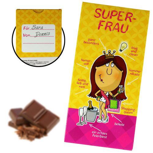 Super-Frau Schokolade