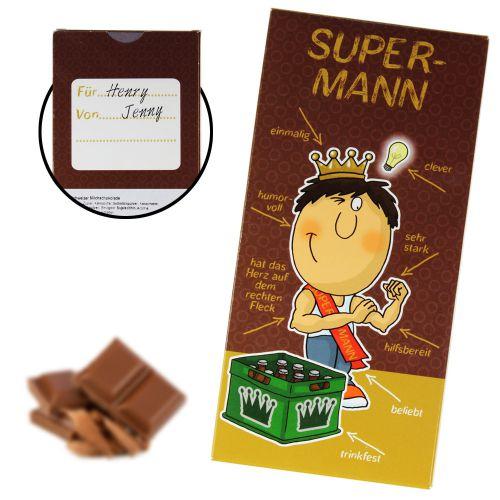 Super-Mann Schokolade