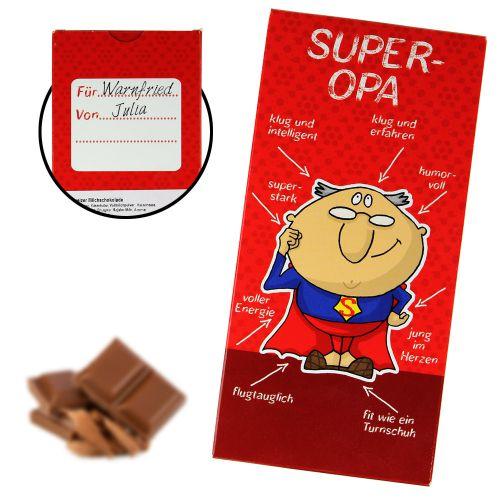 Super-Opa Schokolade