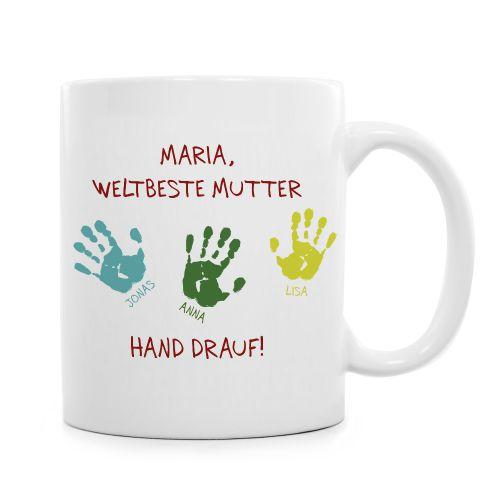 Tasse für Mutter - Hand drauf