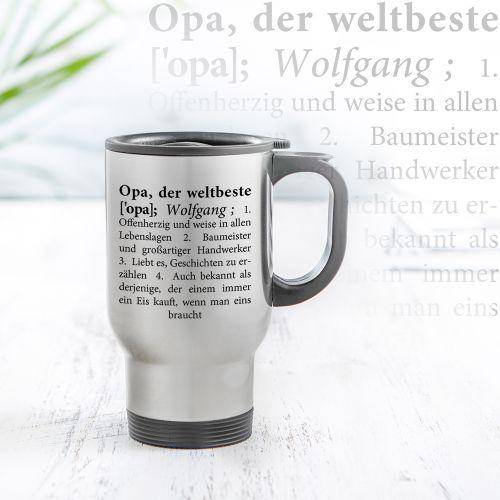 Thermobecher personalisiert - Definition Weltbester Opa