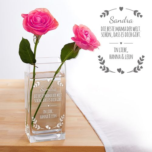 Vase für Mama - personalisiert