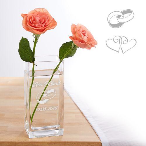 Vase zur Hochzeit - personalisiert