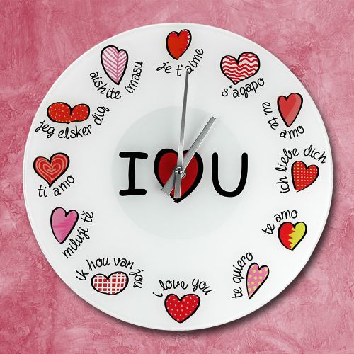 Wanduhr - I Love You