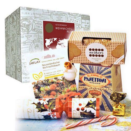 Weihnachtsbox - Weihnachtliche Weltreise Geschenkbox