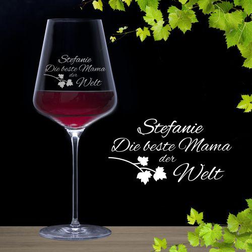Weinglas mit Gravur Beste Mama