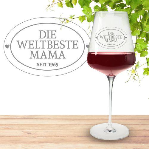 Weinglas mit Gravur Die Weltbeste Mama
