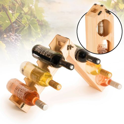 Weinständer aus Holz zum Tragen